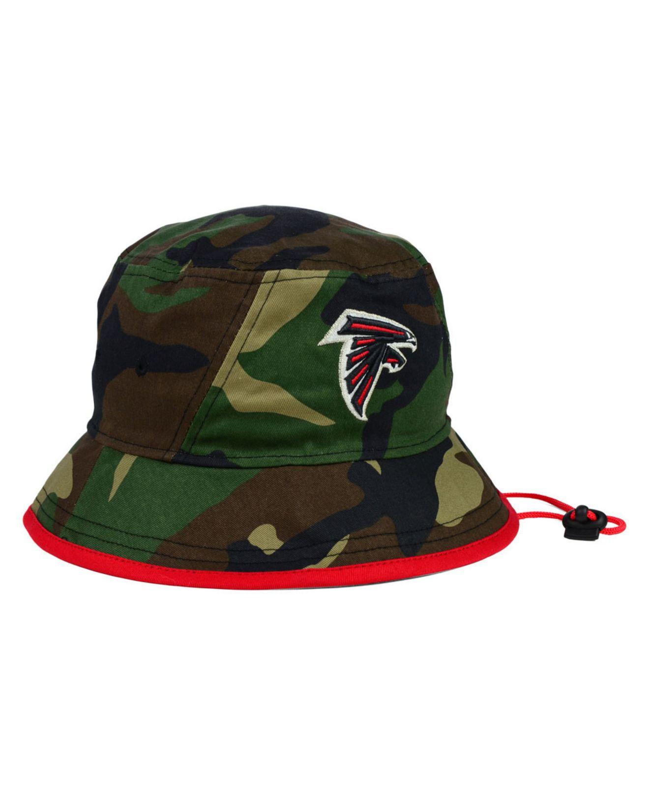 abafd8e5 ... spain lyst ktz atlanta falcons camo pop bucket hat in green for men  5f323 26de1