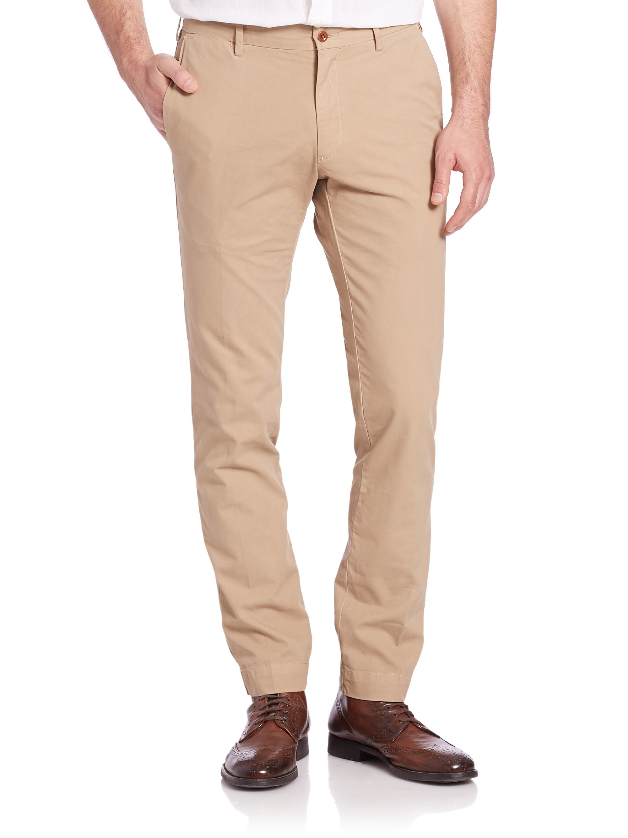 c8ad4b790 Polo Ralph Lauren Slim-fit Newport Pants in Natural for Men - Lyst