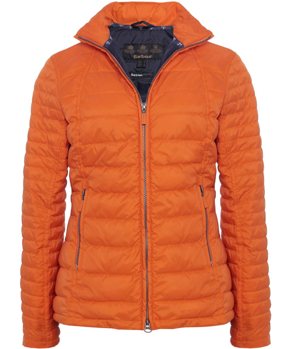 Barbour Chock Quilted Jacket In Orange Lyst