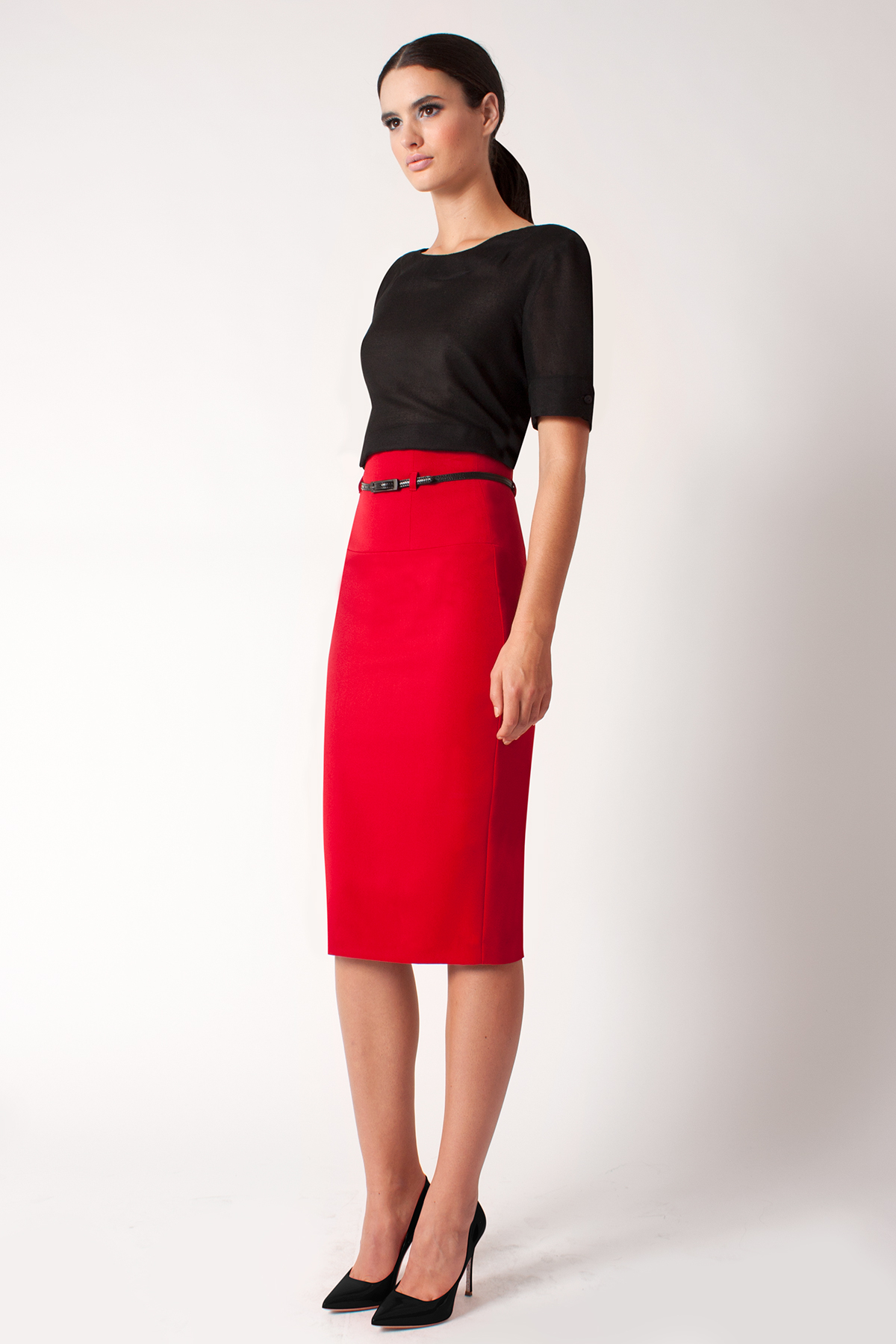 Lyst - Black Halo High Waist Pencil Skirt *online ... - photo#7
