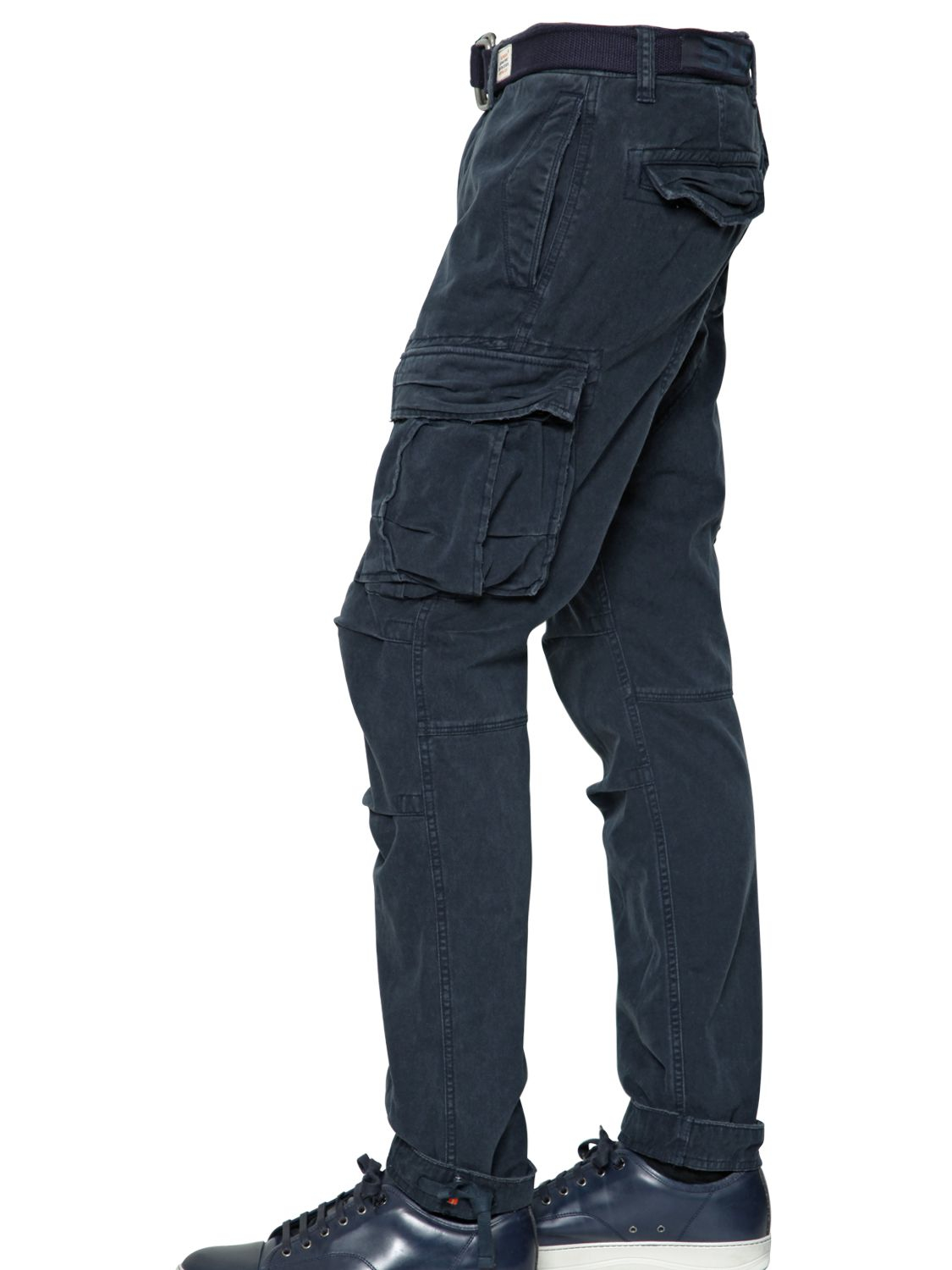 Superdry 17cm Cotton Cargo Pants in Blue for Men | Lyst