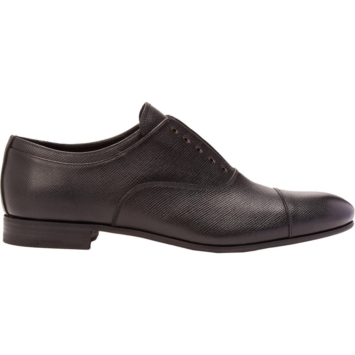 Prada Black Clean Oxfords buy cheap fashion Style cheap sale Manchester cheap sale manchester great sale UnMsYbhdj