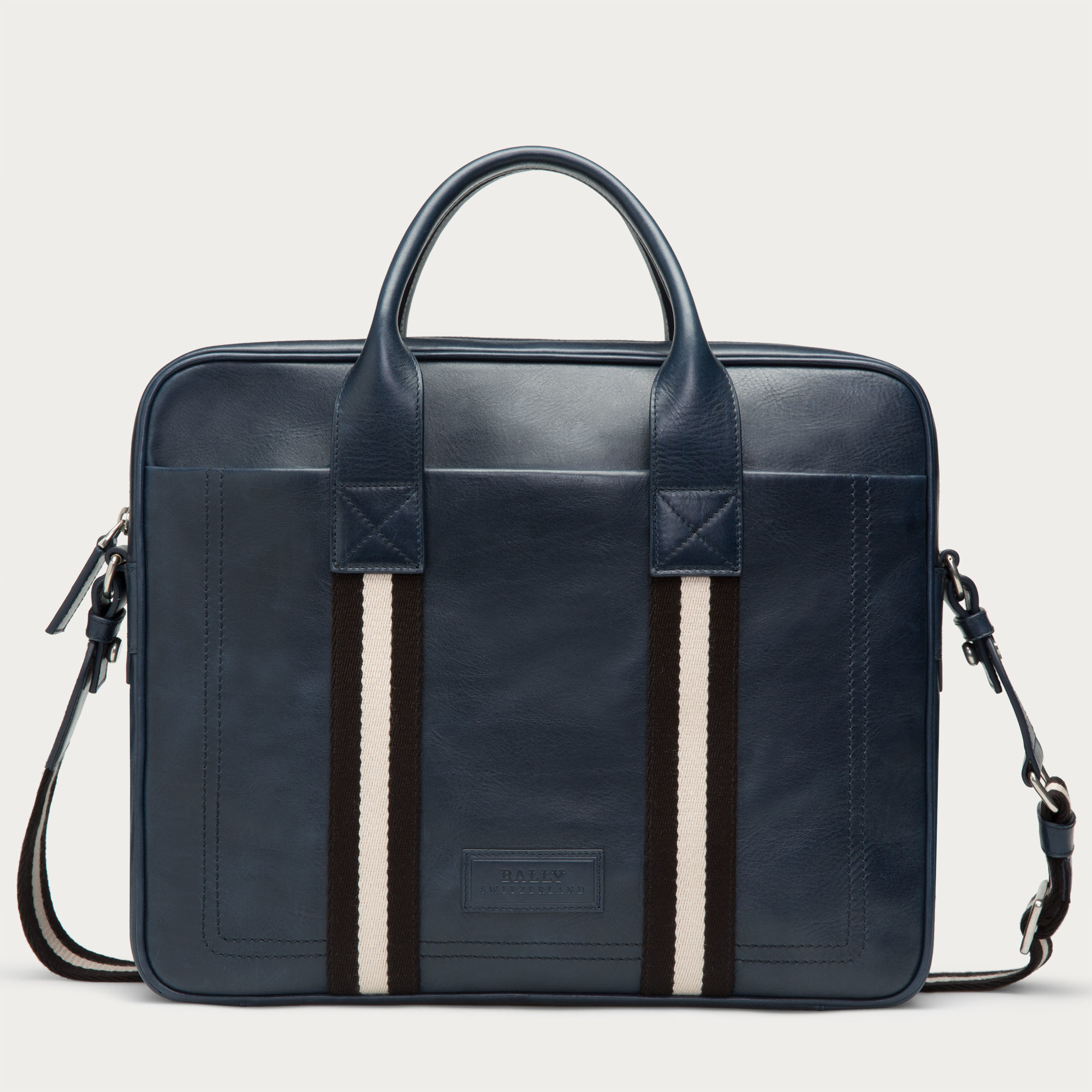 f28d942ca4b1 Lyst - Bally Tedal Medium Men s Leather Business Bag In New Blue in Blue