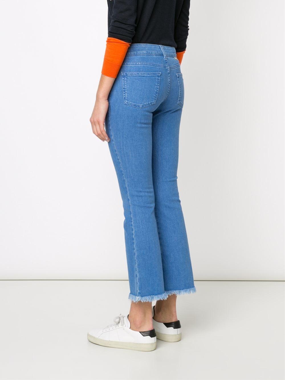 flared cropped trousers - Blue Stella McCartney Geniue Stockist Online RQSFWAl322