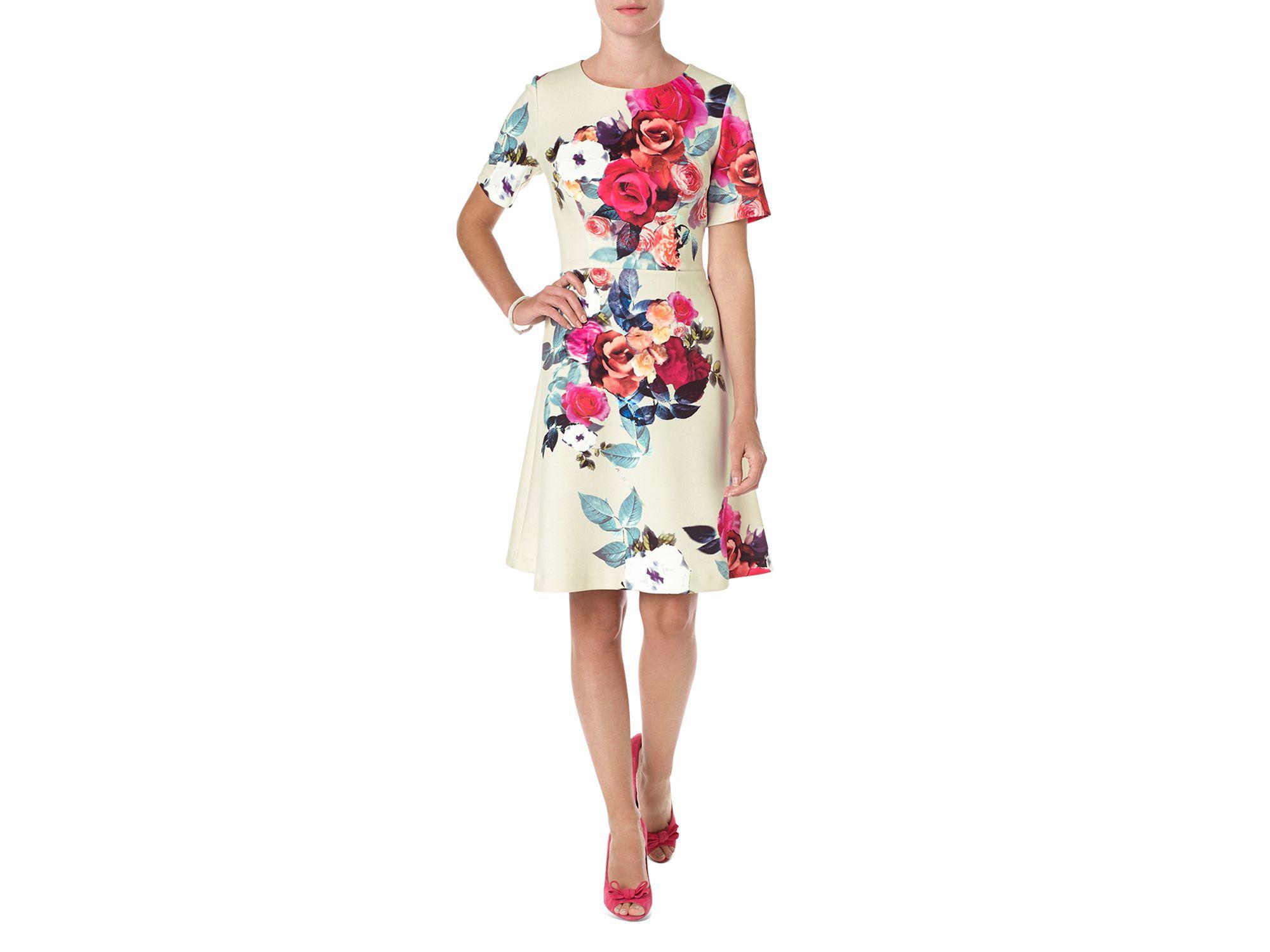 Lyst - Phase Eight Aurora Floral Dress