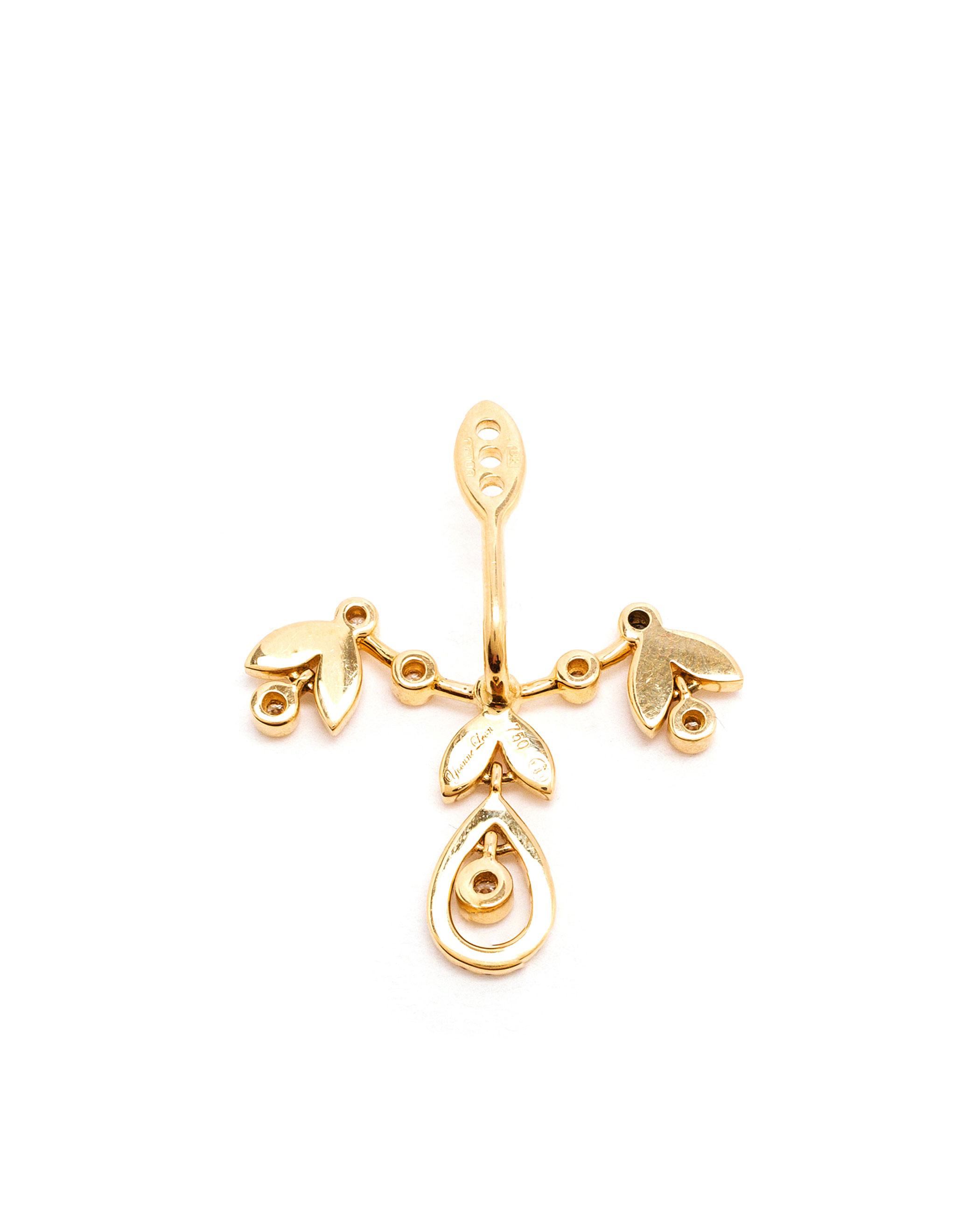 Yvonne Léon Gold Tortoise Diamond Earring g8zAH