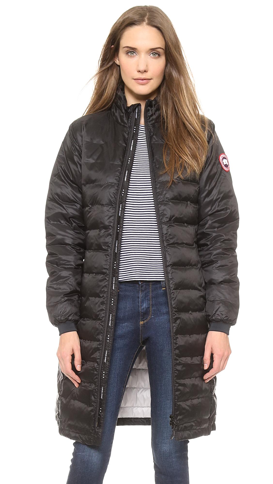 canada goose camp hooded jacket black women's