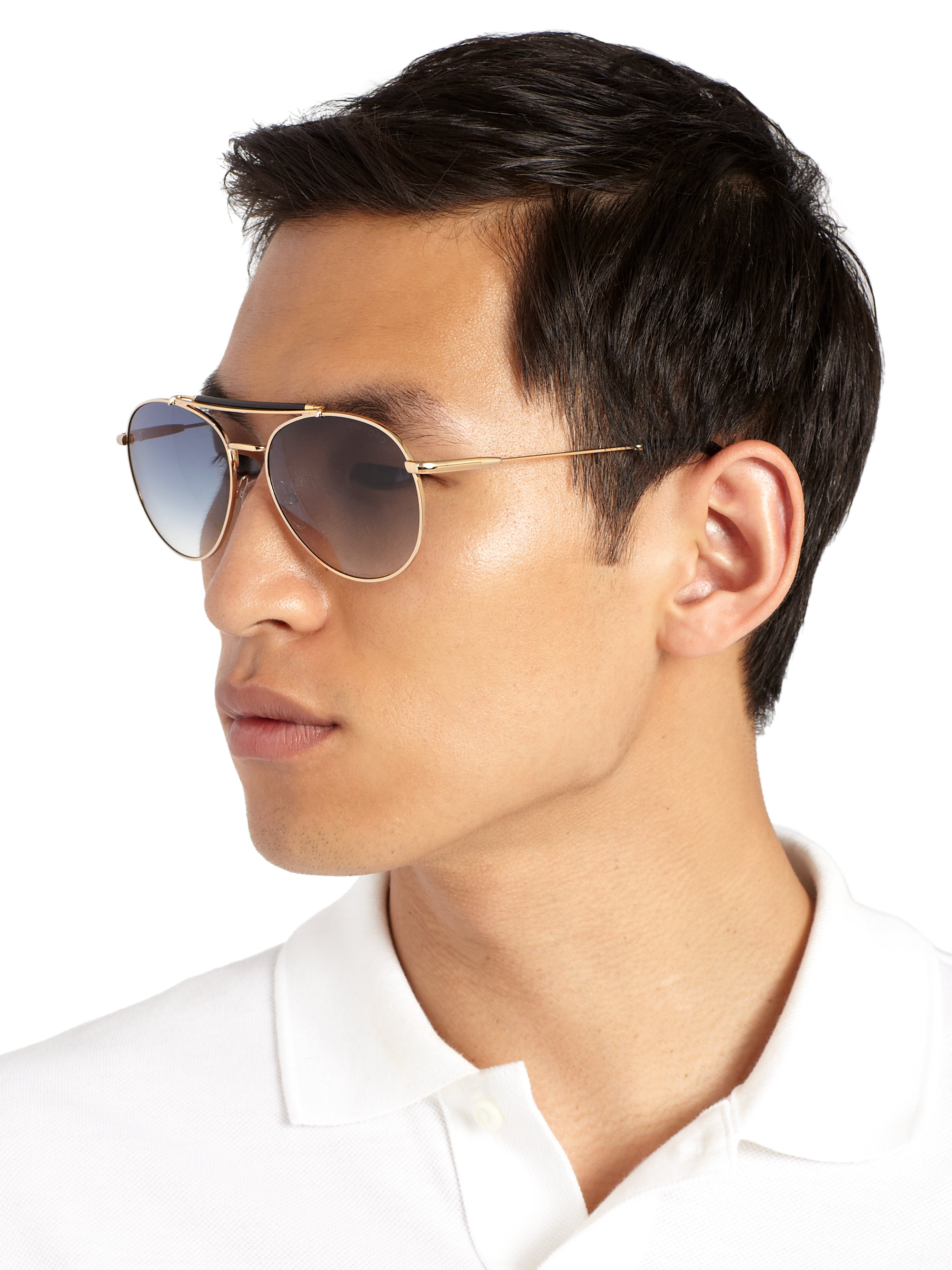 Lyst Tom Ford Colin Metal Aviator Sunglasses In Blue For Men