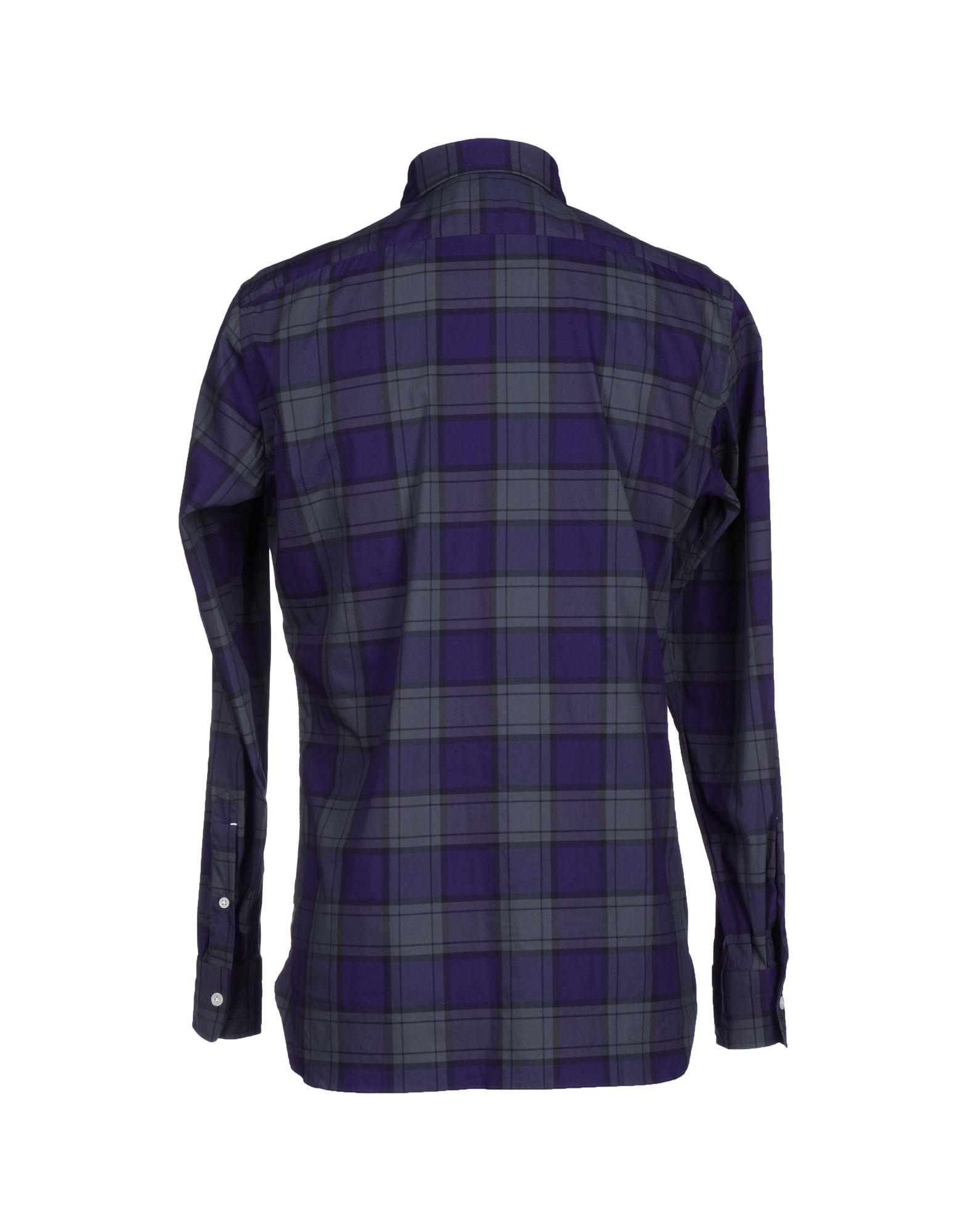 Luigi Borrelli Napoli Shirt In Purple For Men Lyst
