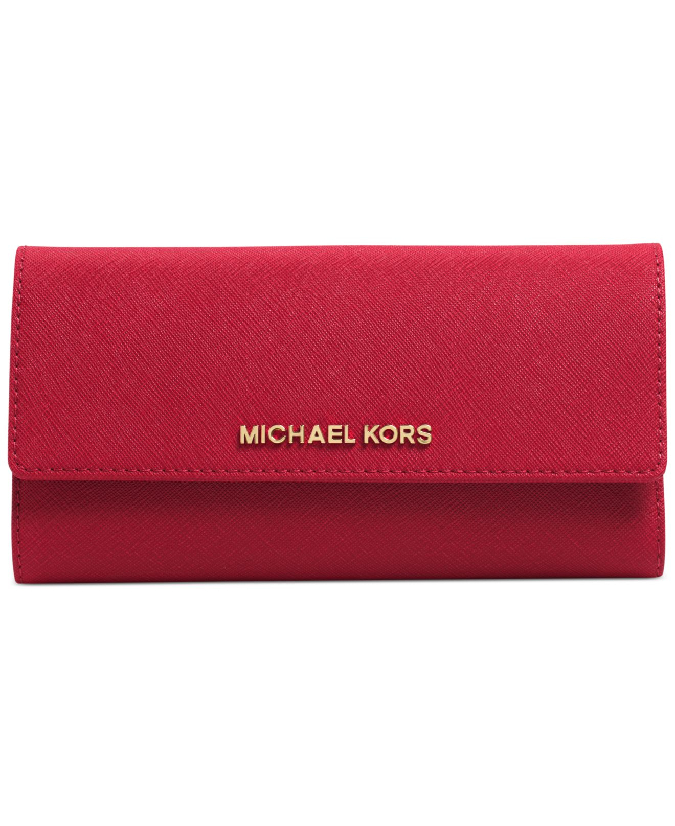 michael kors michael jet set travel checkbook wallet in