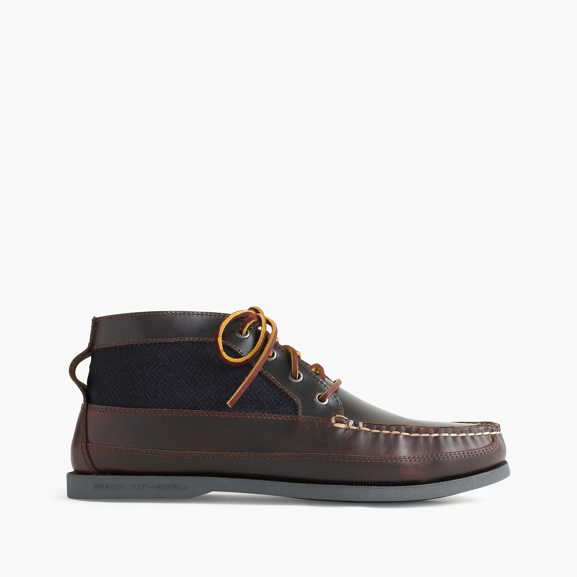 Jew Sperry Wool And Leather Chukka Boots in Brown for