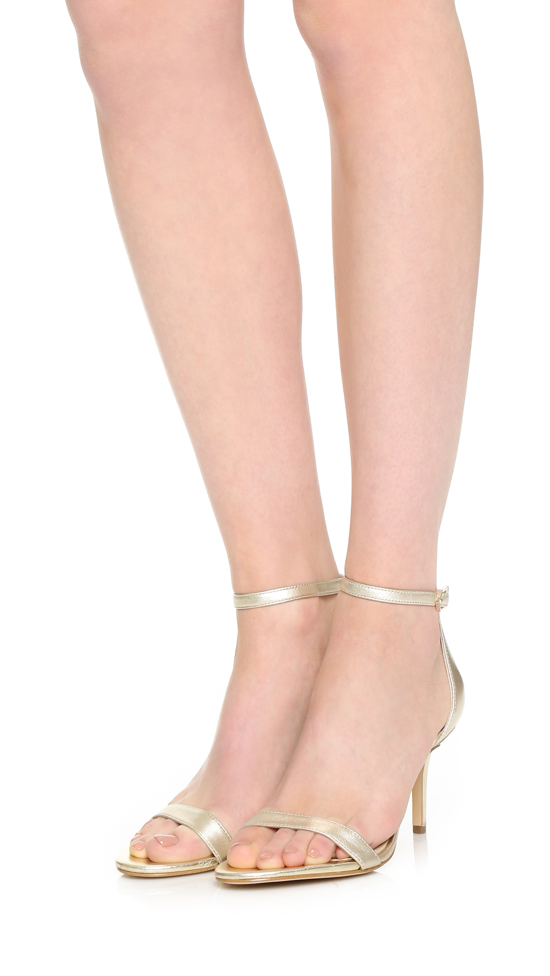 da768b5314a Lyst - Sam Edelman Patti Mid Heel Sandals in Natural
