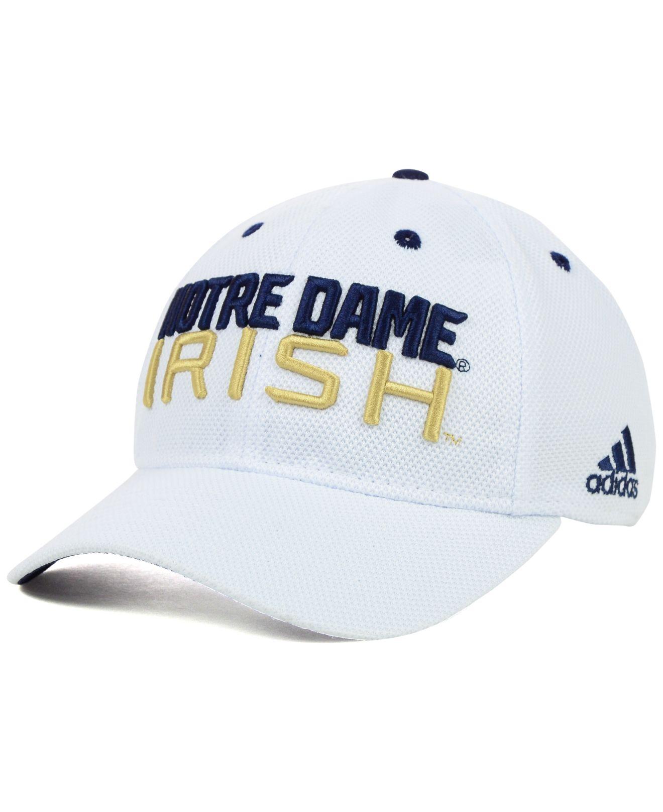 2632ea6bba9fc ... wholesale lyst adidas notre dame fighting irish campus slope flex cap  in white for men 846b7