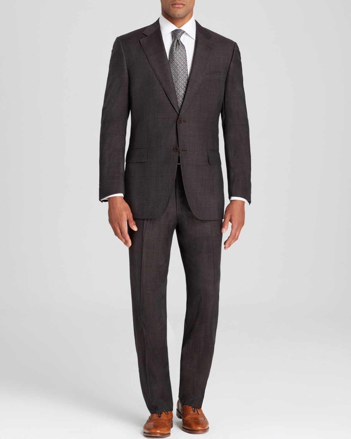 Lyst Canali Siena Glen Plaid Suit Classic Fit In Gray