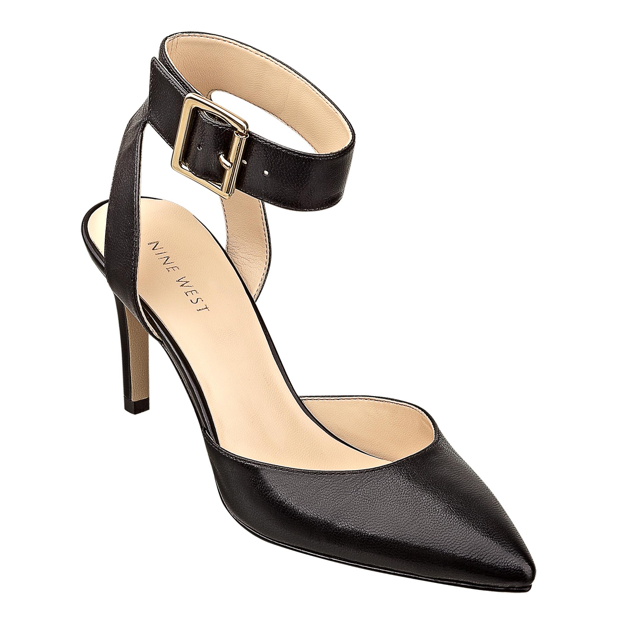 3abea1b338 Nine West Callen Ankle Strap Heels in Black - Lyst