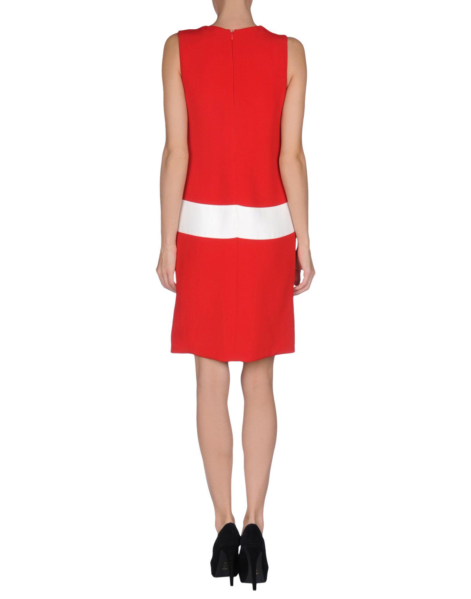 prada kneelength dress in red lyst