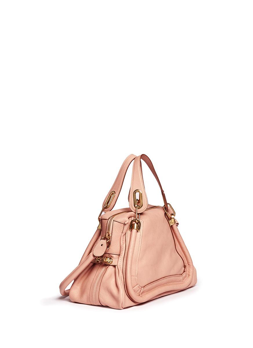 Chlo¨¦ \u0026#39;paraty\u0026#39; Medium Leather Bag in Pink   Lyst