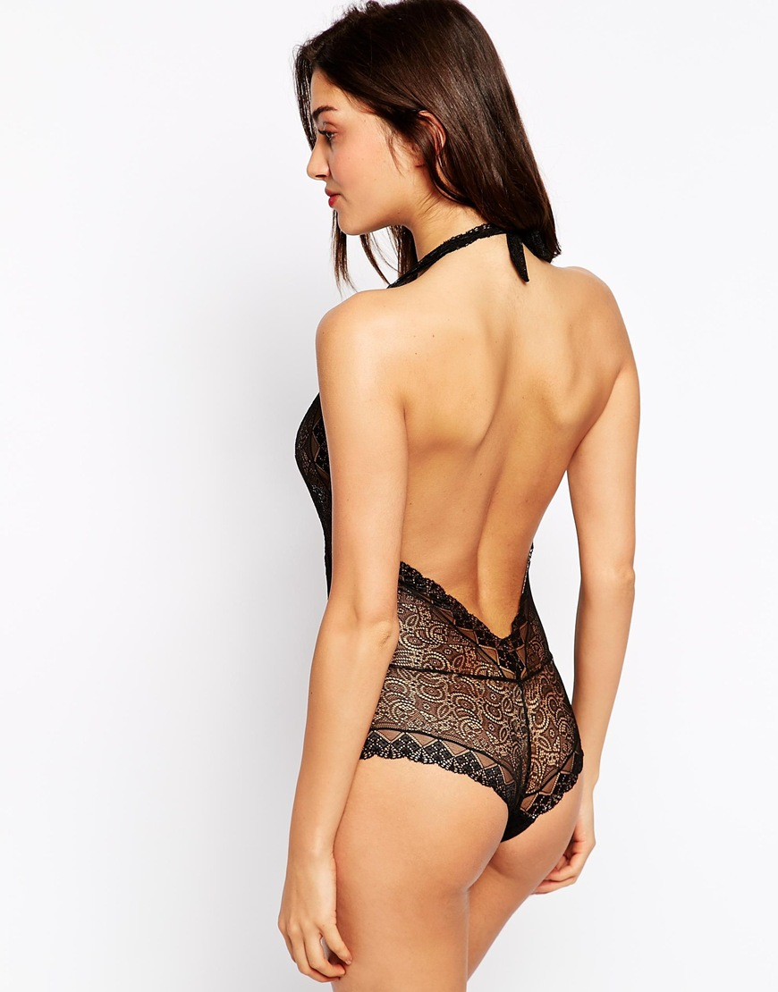 Free shipping and guaranteed authenticity on Max Studio Margot Bodysuit Black Lace TopNever worn max studio specialty products bodysuit.