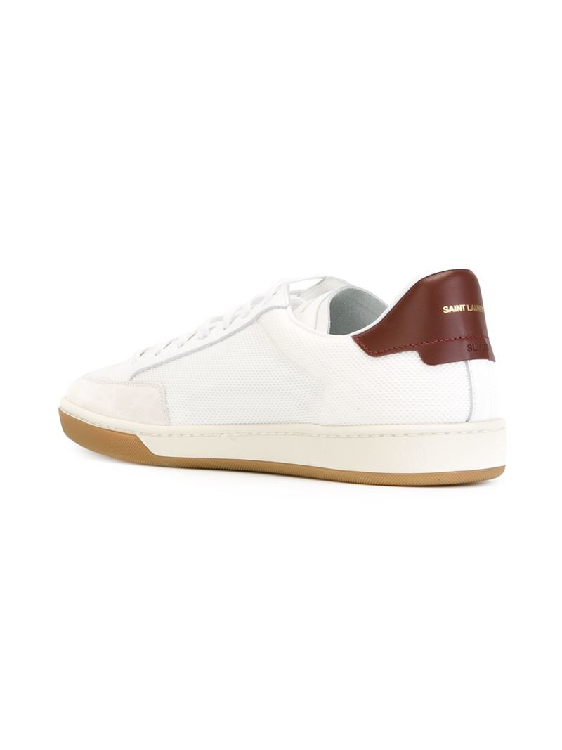 saint laurent 39 court classic sl 30 39 sneakers in white for men lyst. Black Bedroom Furniture Sets. Home Design Ideas