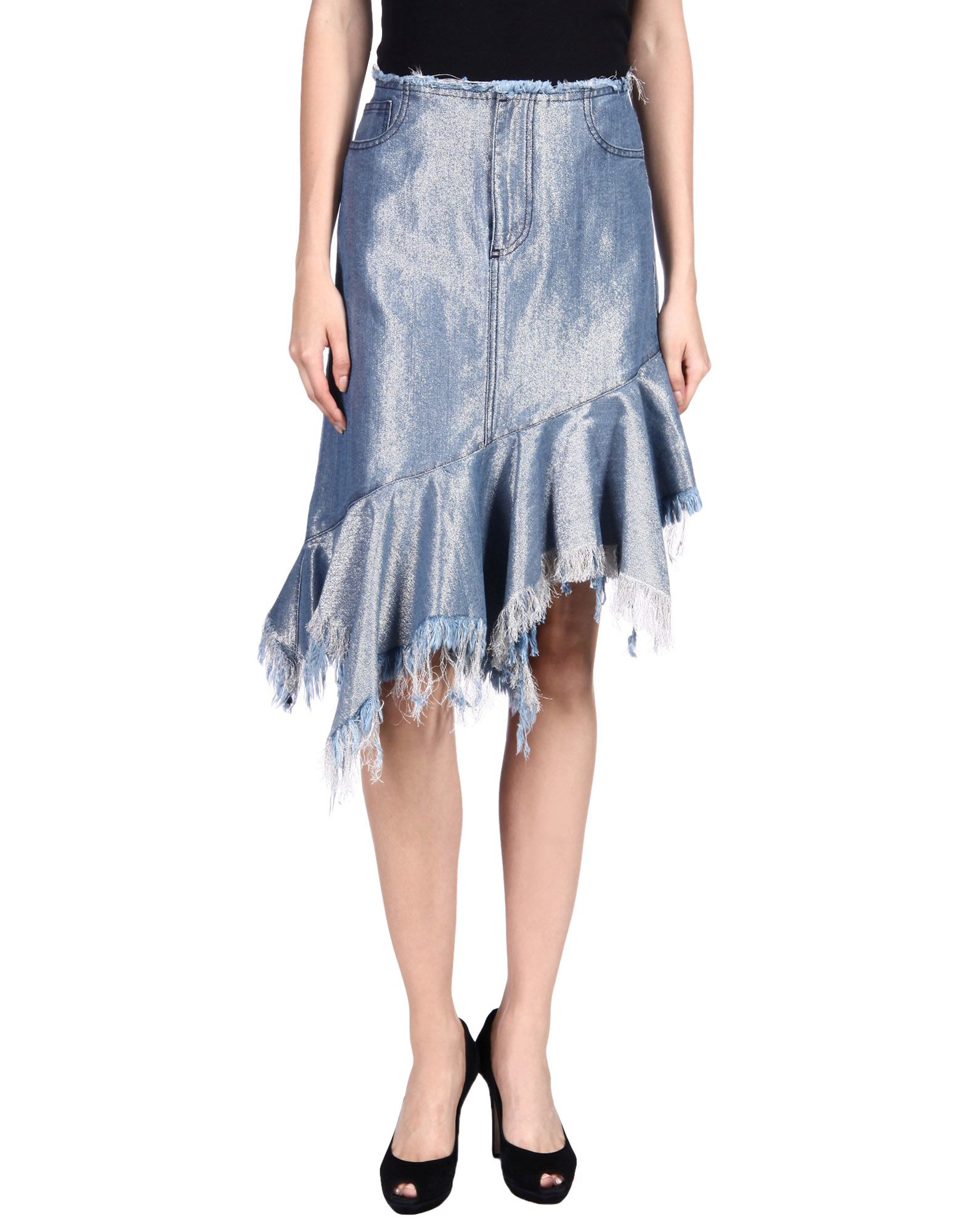 marques almeida denim skirt in blue save 20 lyst