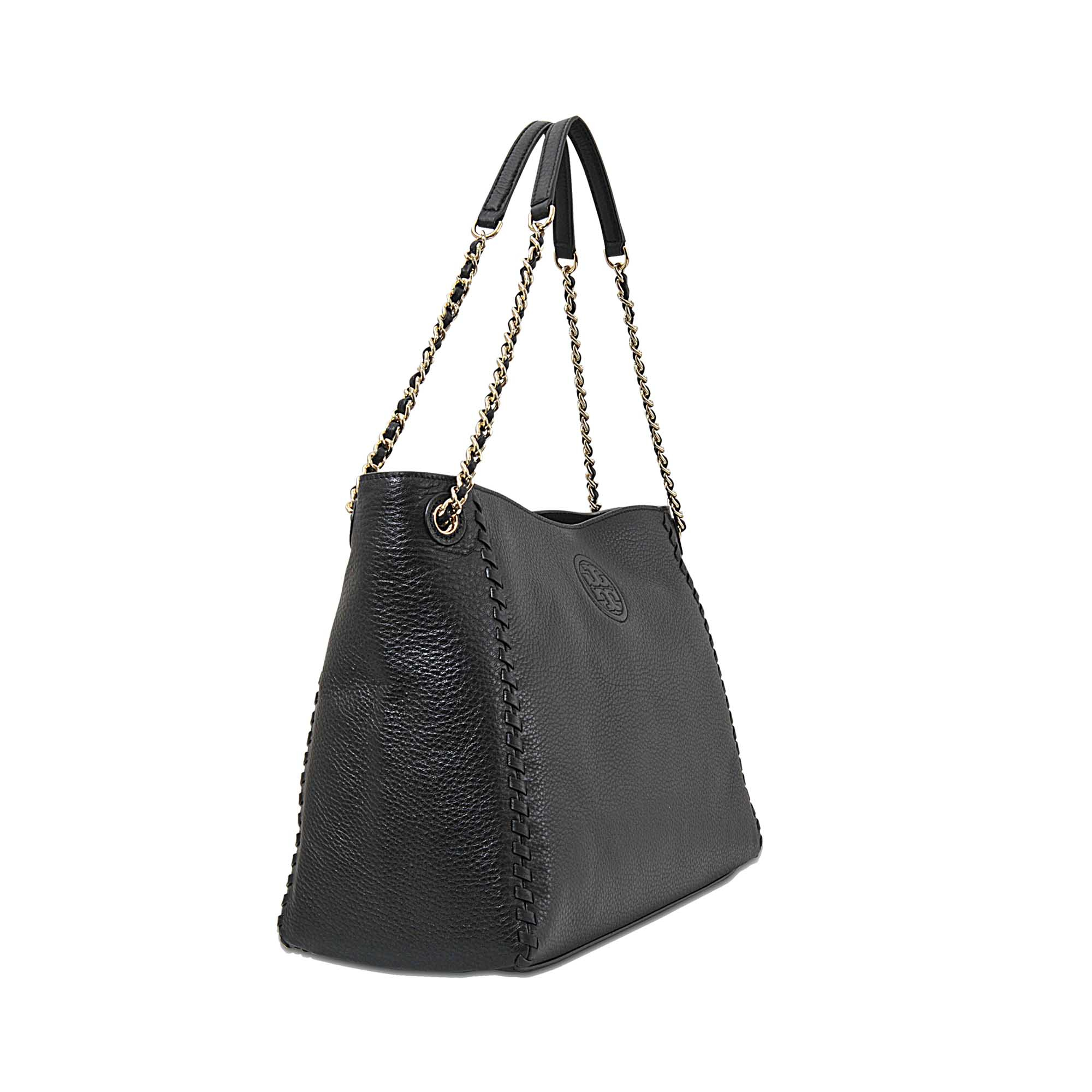 7438a1d3895 Tory Burch Marion Chain-shoulder Slouchy Tote in Black - Lyst