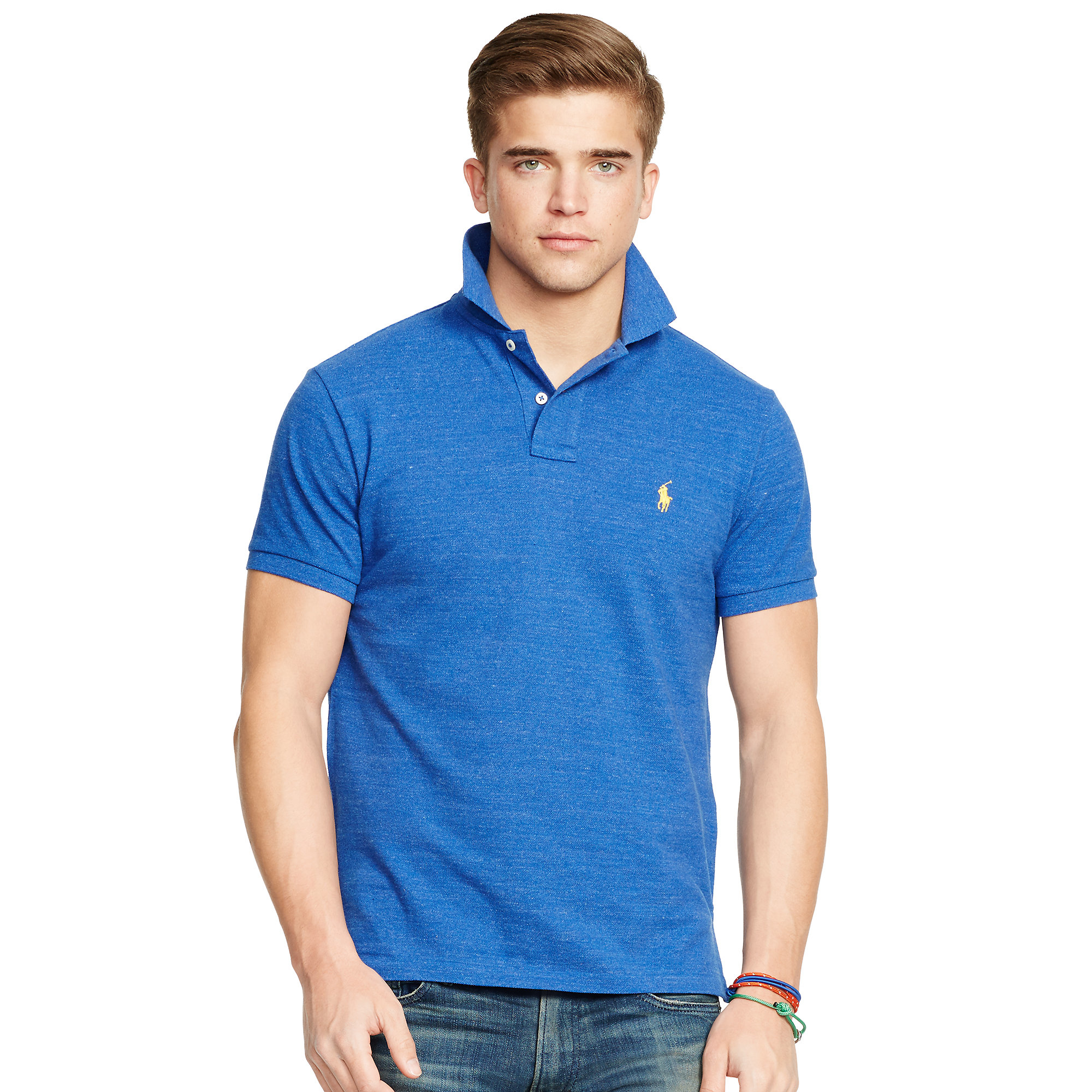 5dfcd9f5d Polo ralph lauren Custom-fit Mesh Polo Shirt in Blue for Men