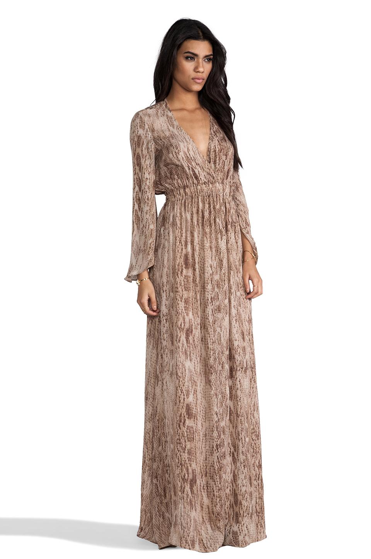 Loveshackfancy Love Shack Fancy Long Sleeve Maxi Dress in Brown | Lyst