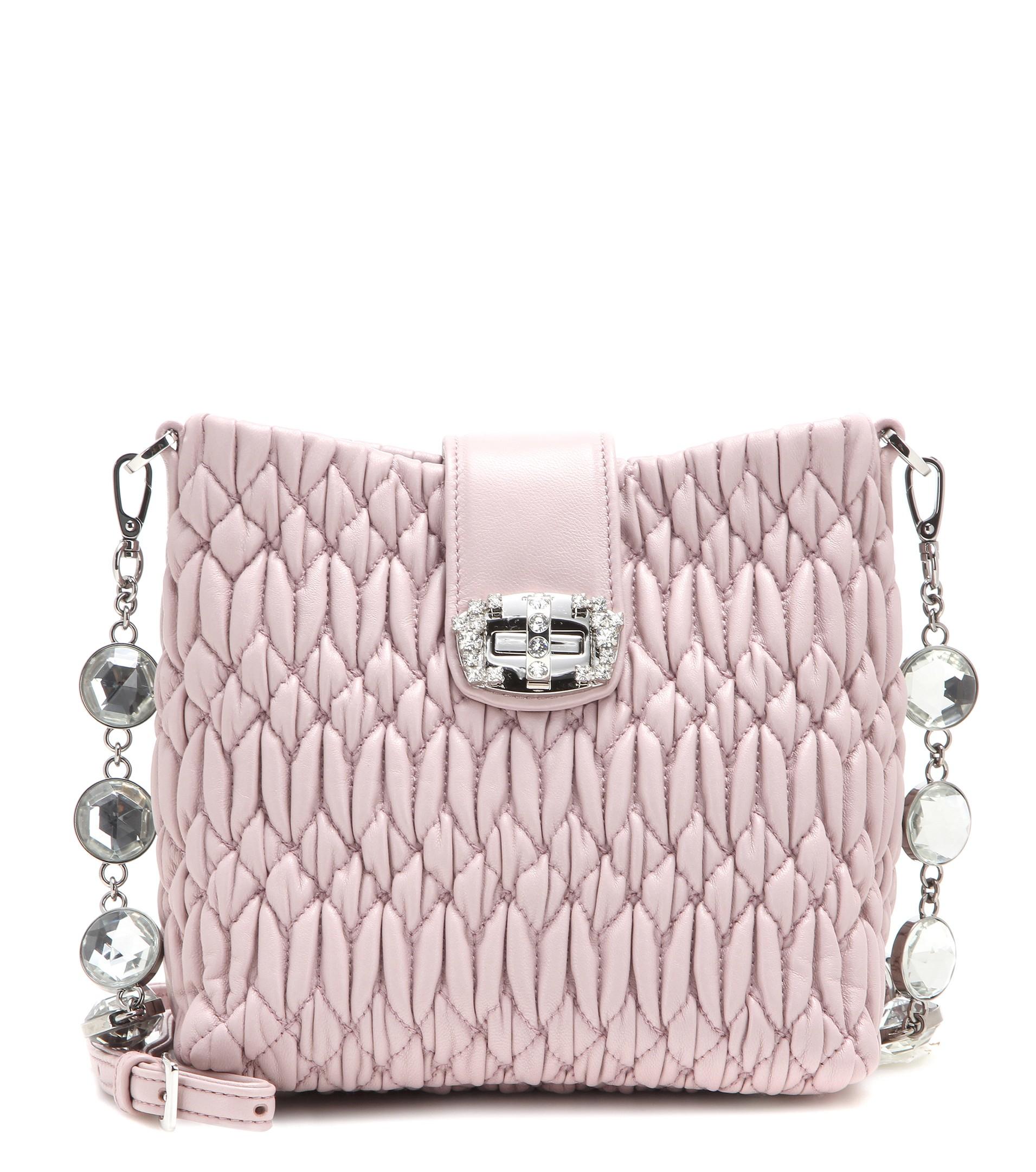 c01e036e9435 Miu Miu Quilted Crossbody Bag