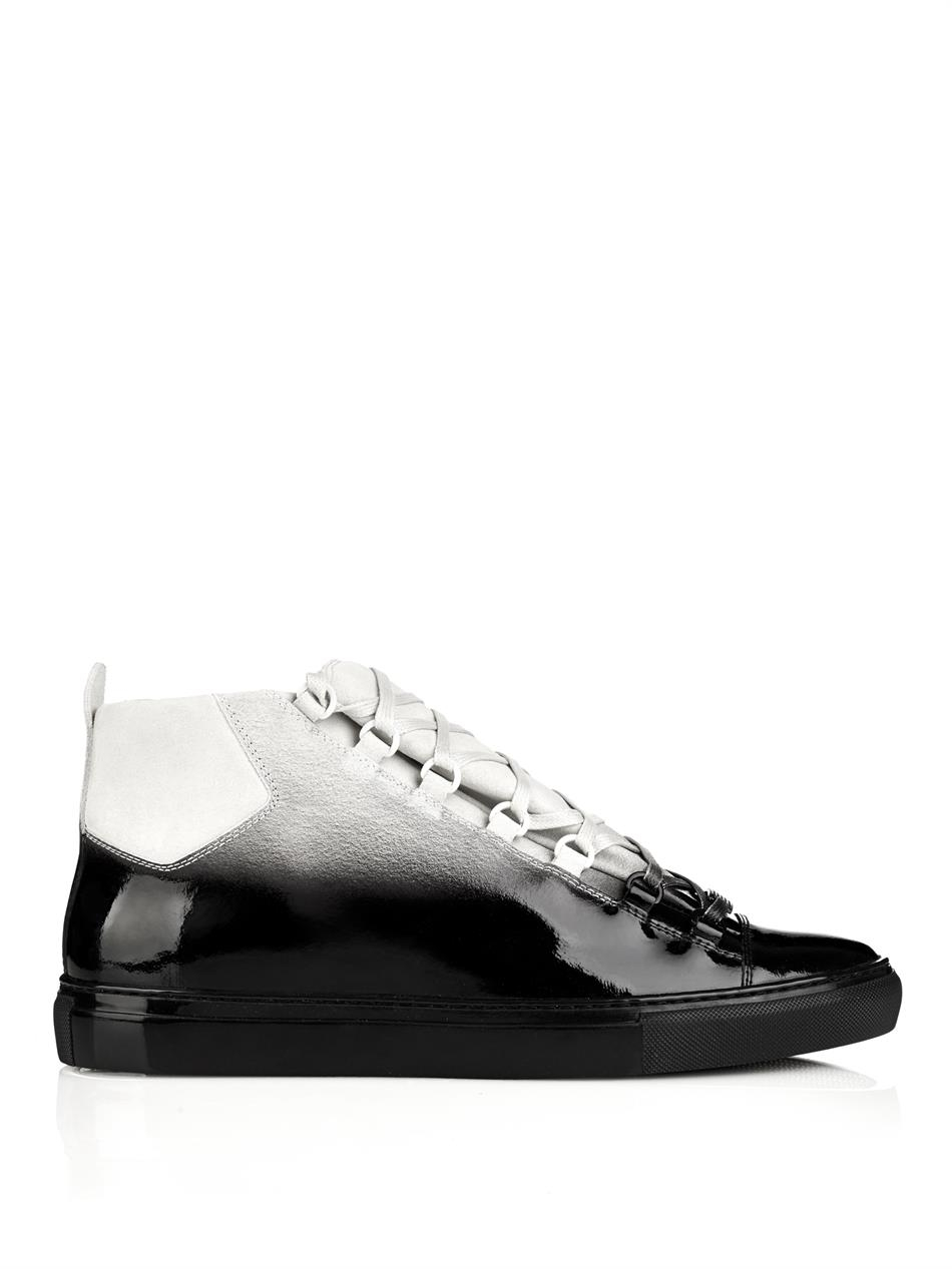 lyst balenciaga arena ombr233effect hightop trainers in