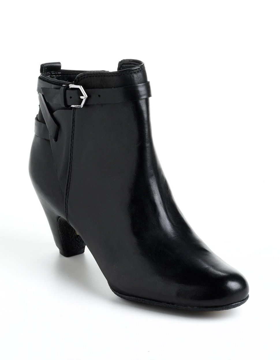 sam edelman maddox leather ankle boots in black black