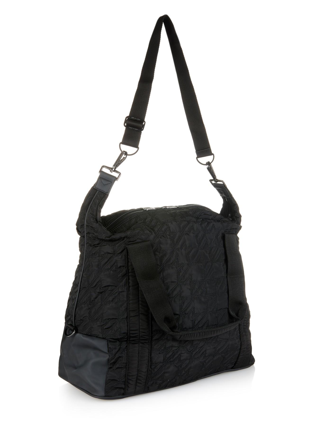 Adidas By Stella Mccartney Big Quilted Nylon Gym Bag In