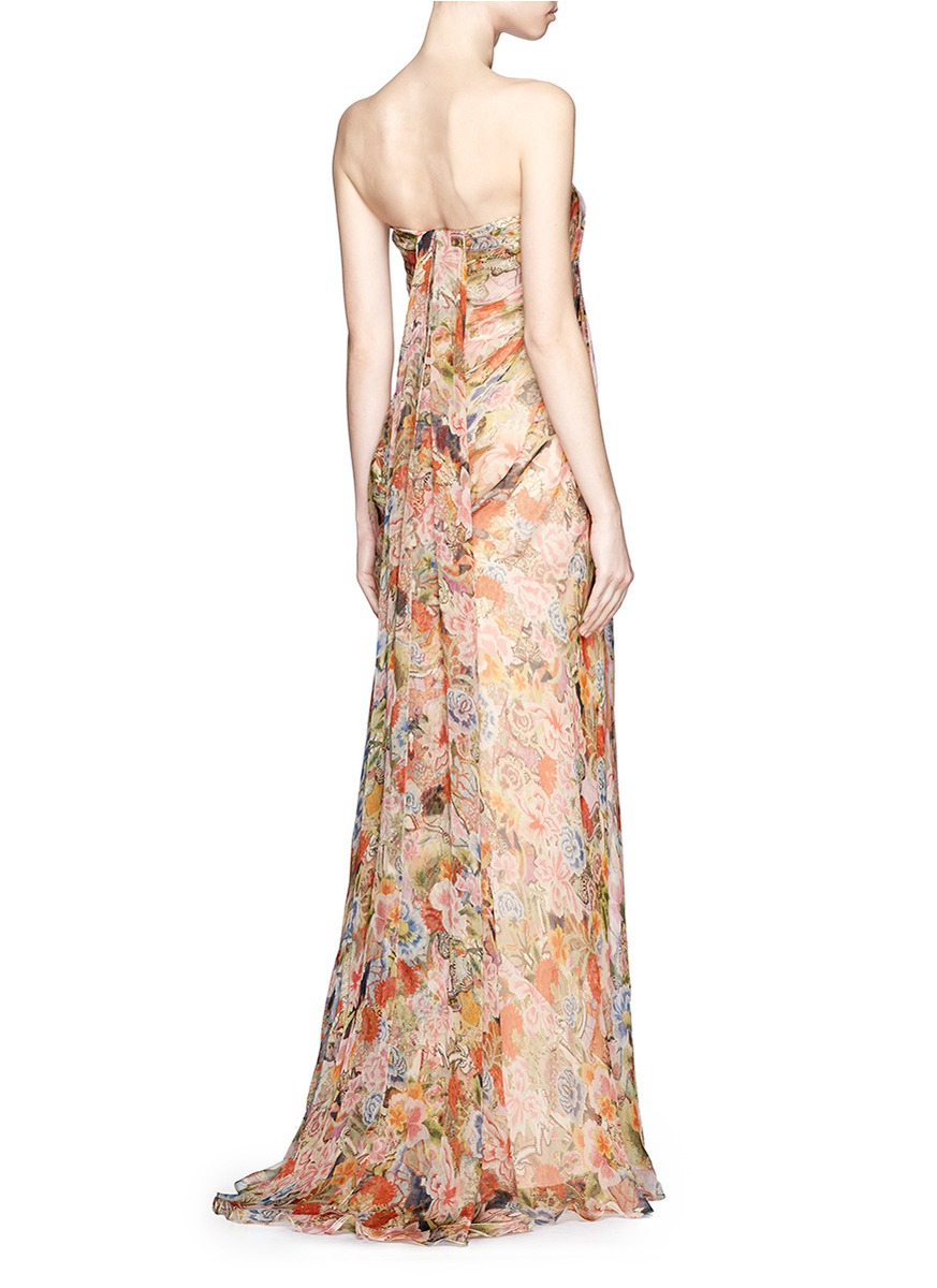 Consider, floral silk chiffon dress there
