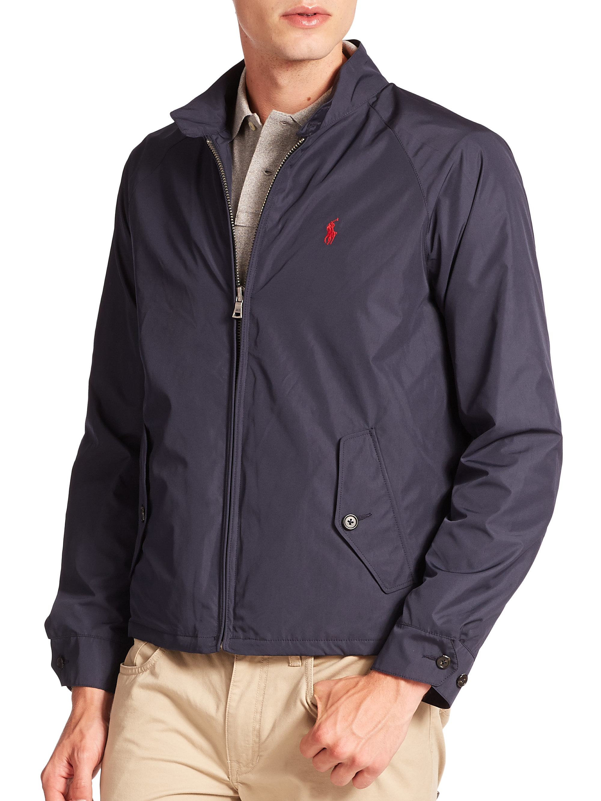 Polo Ralph Lauren Packable Barracuda Jacket In Blue For