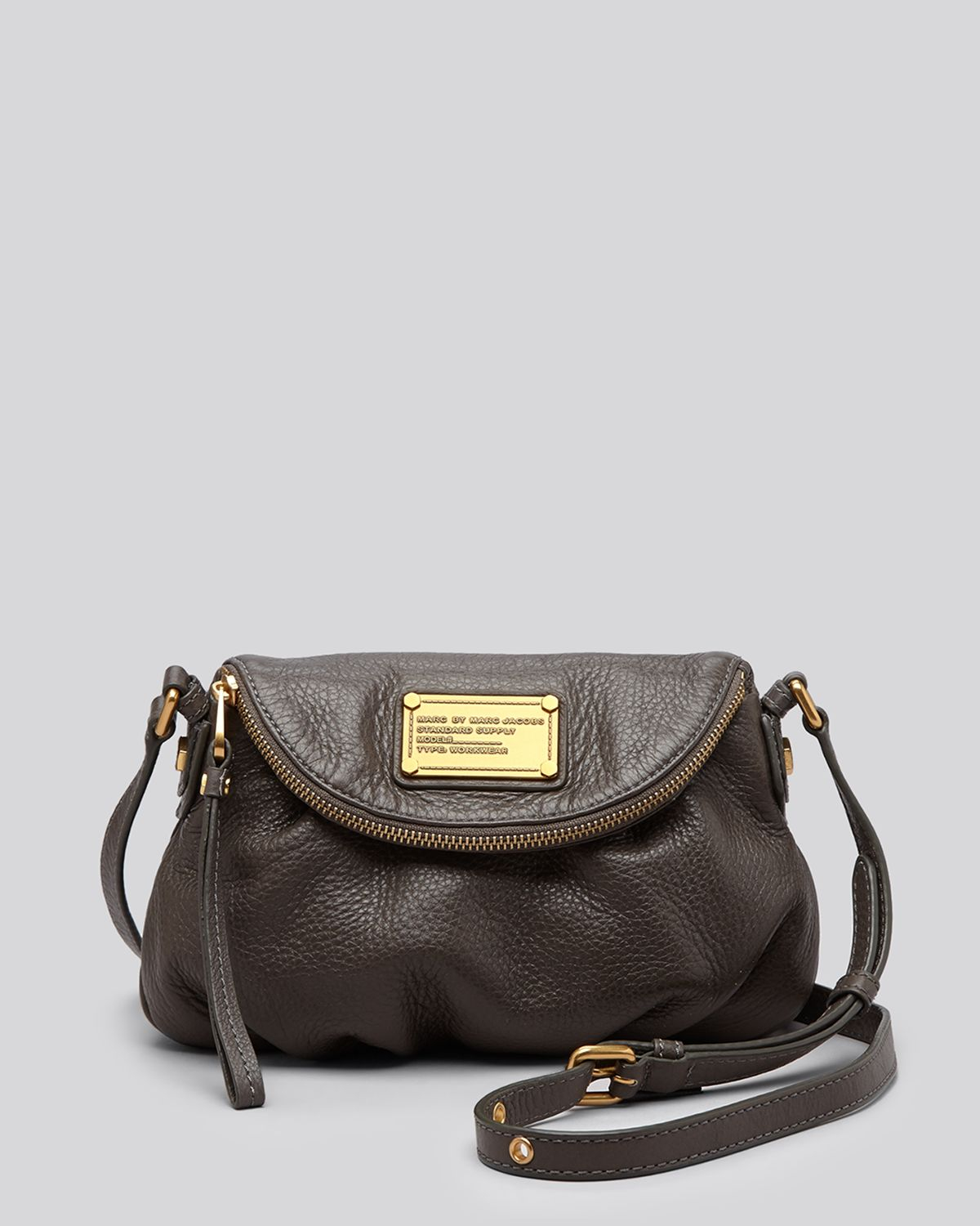 lyst marc by marc jacobs crossbody classic q mini natasha in brown. Black Bedroom Furniture Sets. Home Design Ideas