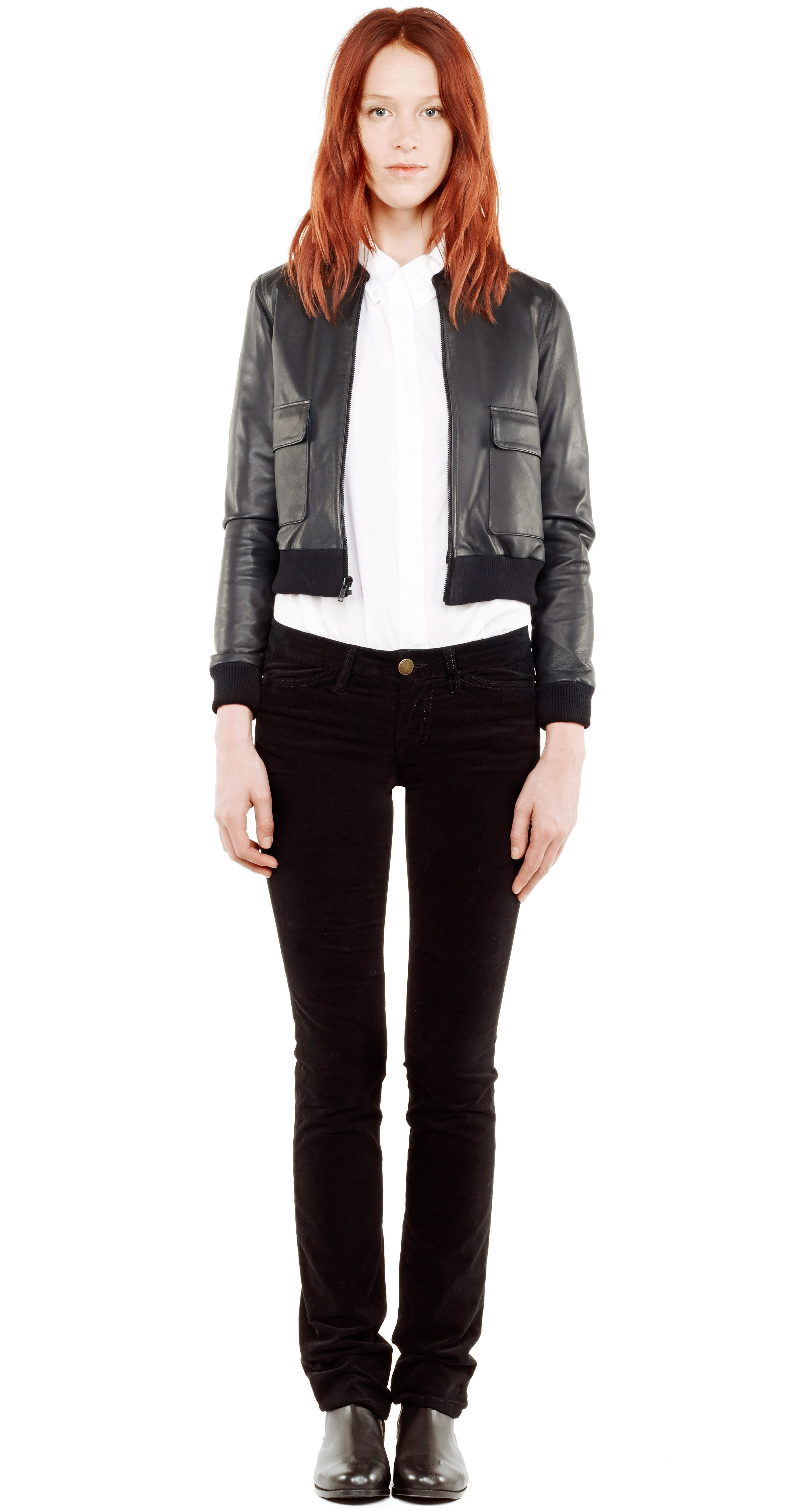 Current elliott leather jacket