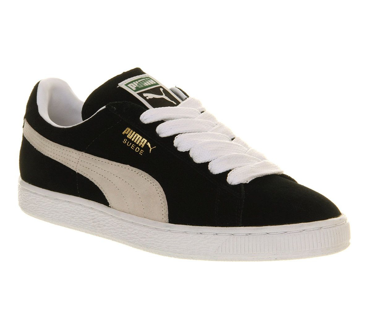 womens black puma suede with character