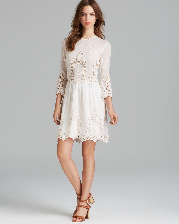 Lyst - Dolce Vita Dv Lace Dress Valentina in White