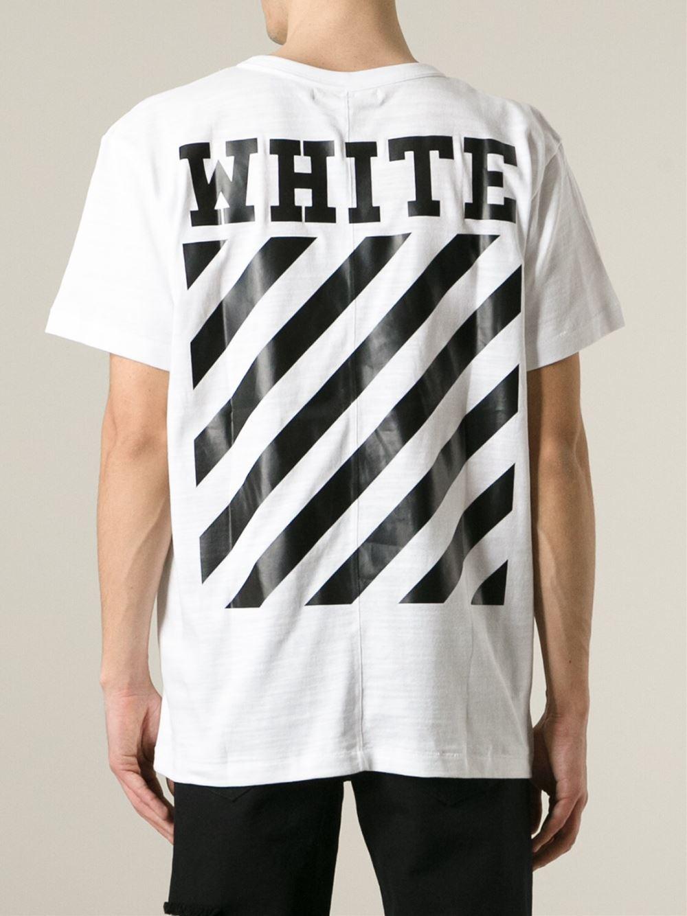 lyst off white c o virgil abloh caravaggio print t shirt in white for men. Black Bedroom Furniture Sets. Home Design Ideas