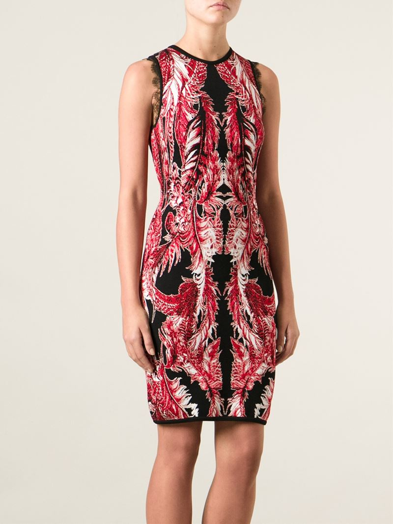 Lyst Roberto Cavalli Pleated Floral Dress In Black