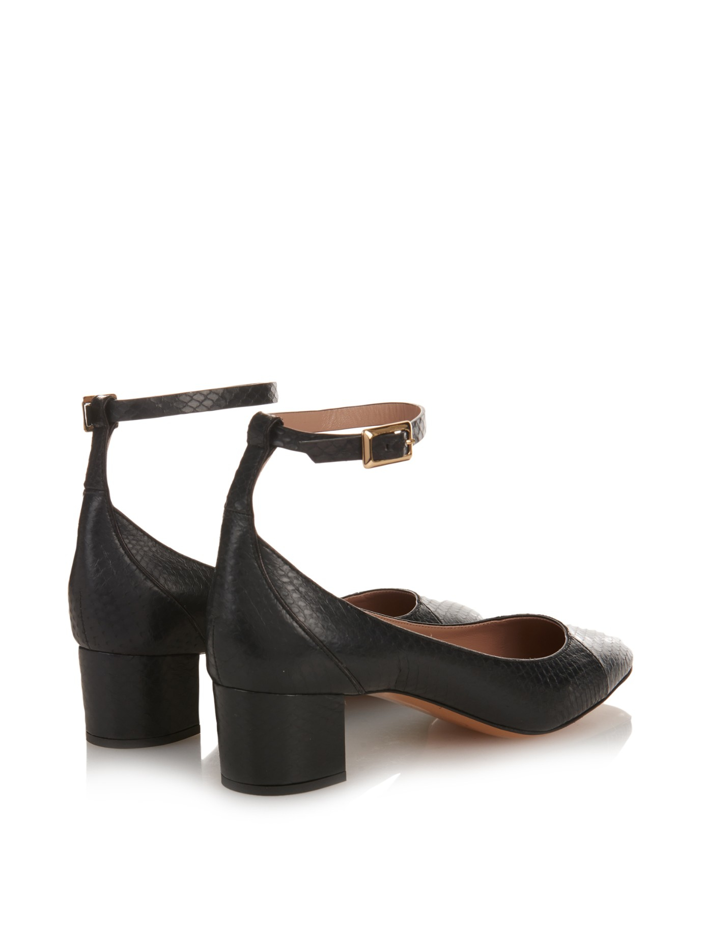 Chloé Snakeskin T-Strap Pumps countdown package online low shipping for sale sale clearance store discount great deals fSVAr
