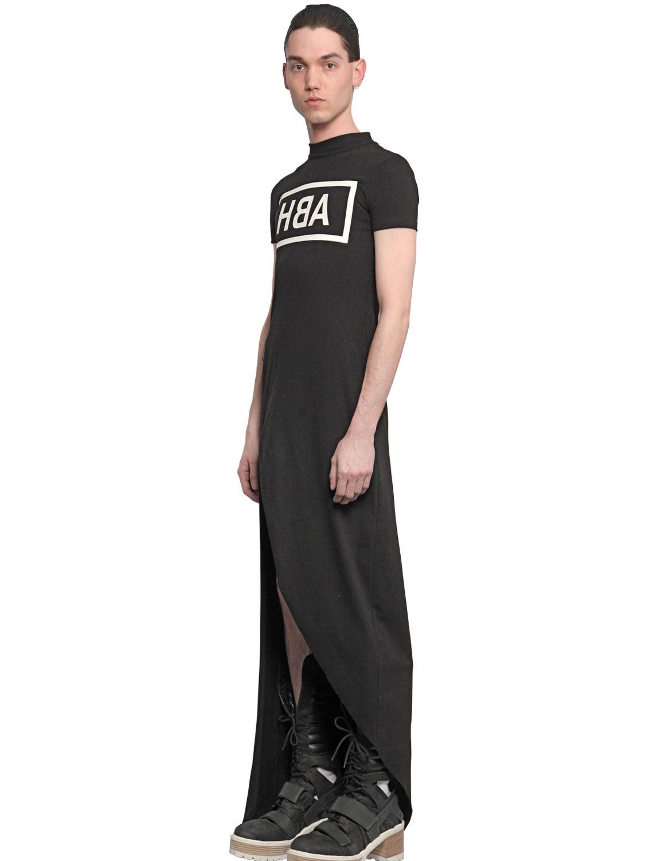 Black t shirt jersey dress - Gallery