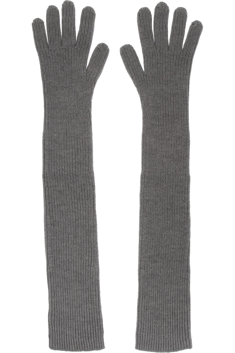 623dfe15d Lyst - Stella McCartney Ribbed Wool Gloves in Gray