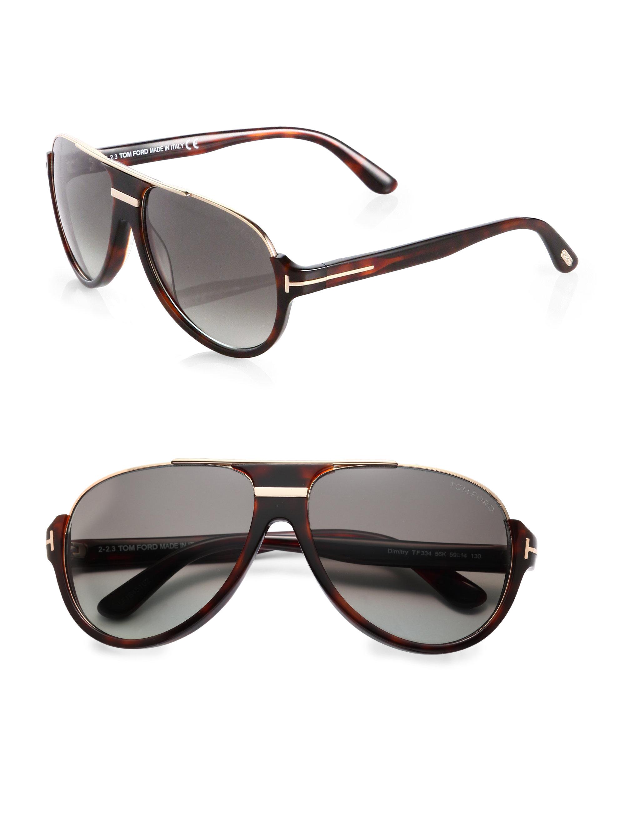 Tom Ford Dimitry Aviator Sunglasses In Black Lyst
