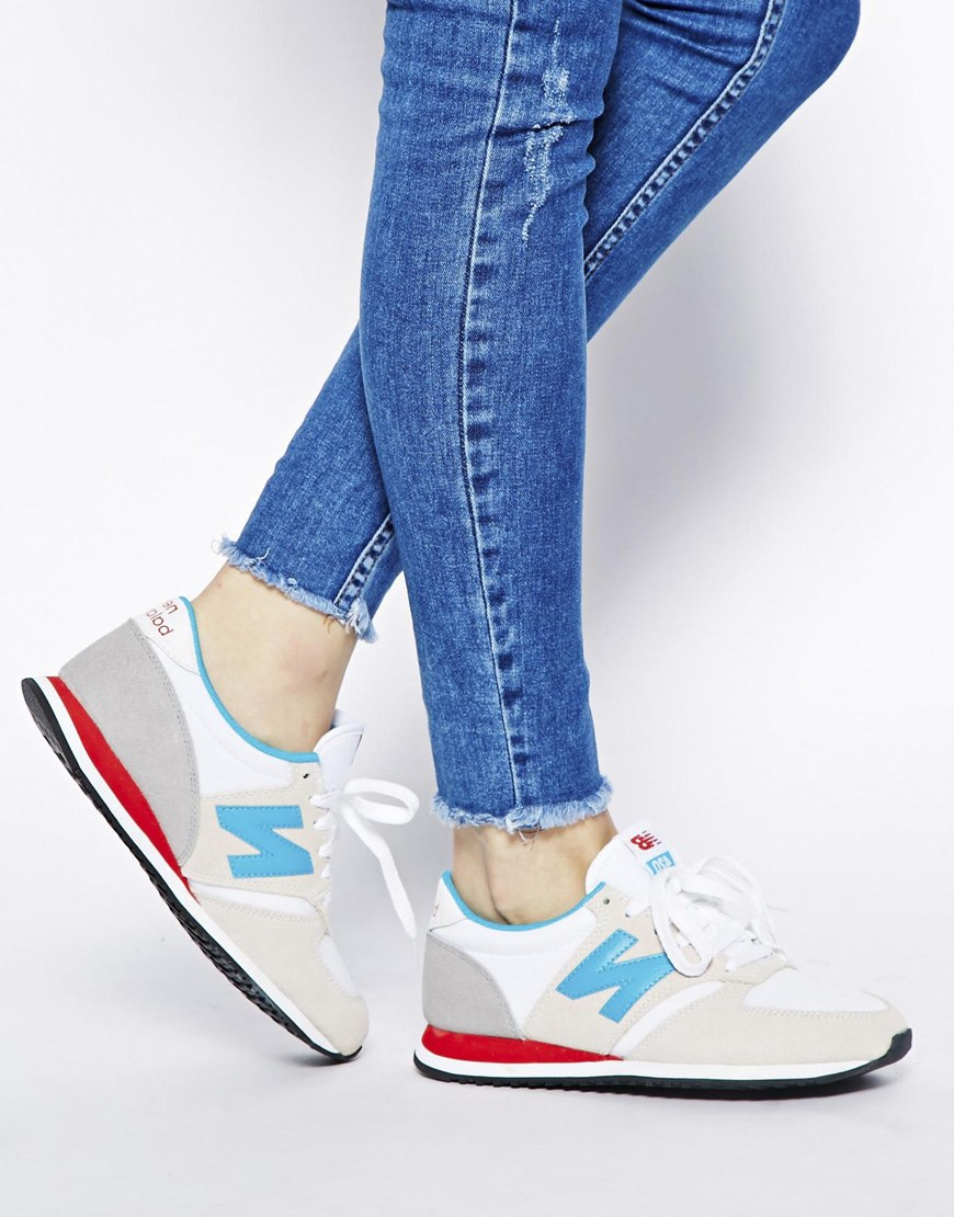 98cd6d0c34dfa New Balance Off White Suede Mix 420 Trainers in Blue - Lyst