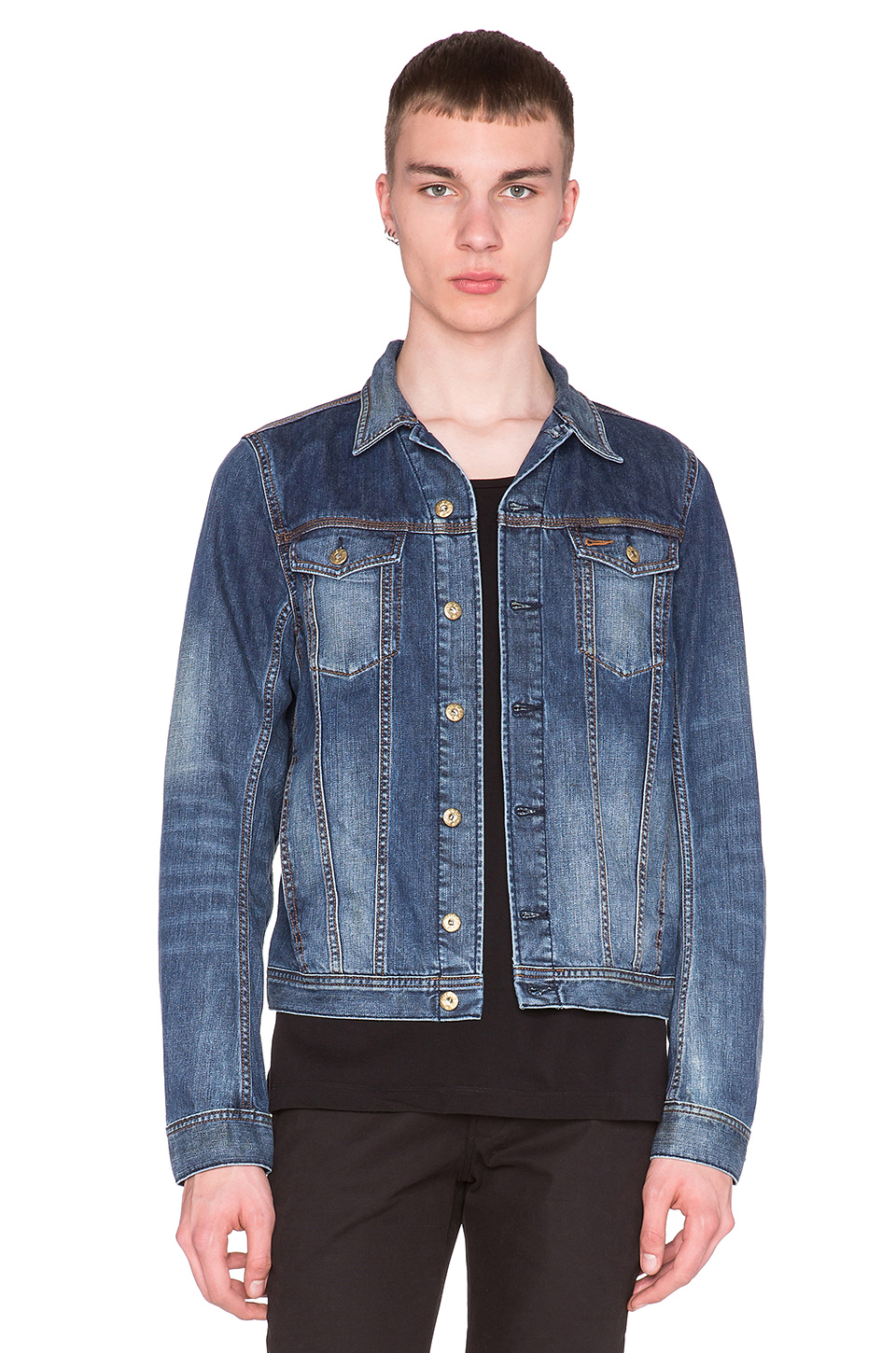 Diesel Elshar-e Denim Jacket in Blue for Men | Lyst