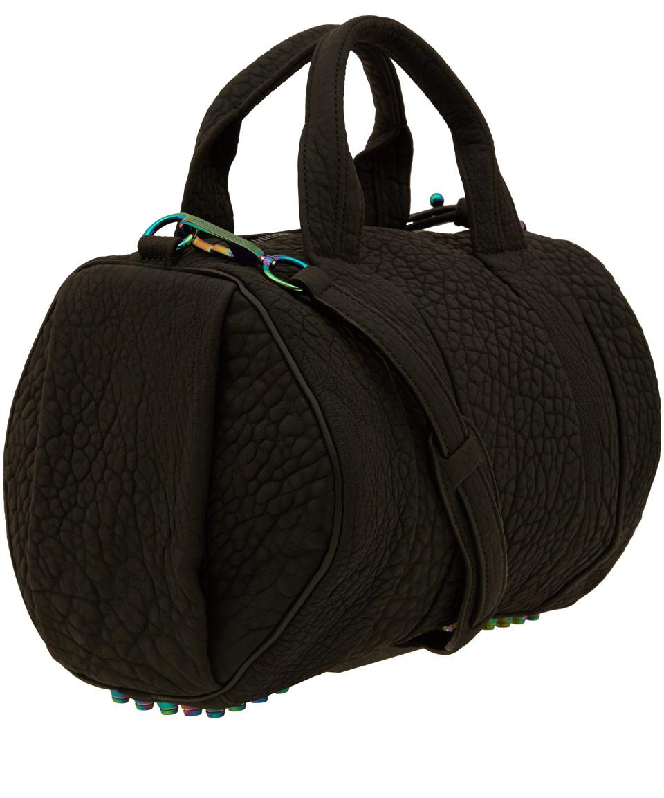 lyst alexander wang black rocco bag with iridescent. Black Bedroom Furniture Sets. Home Design Ideas