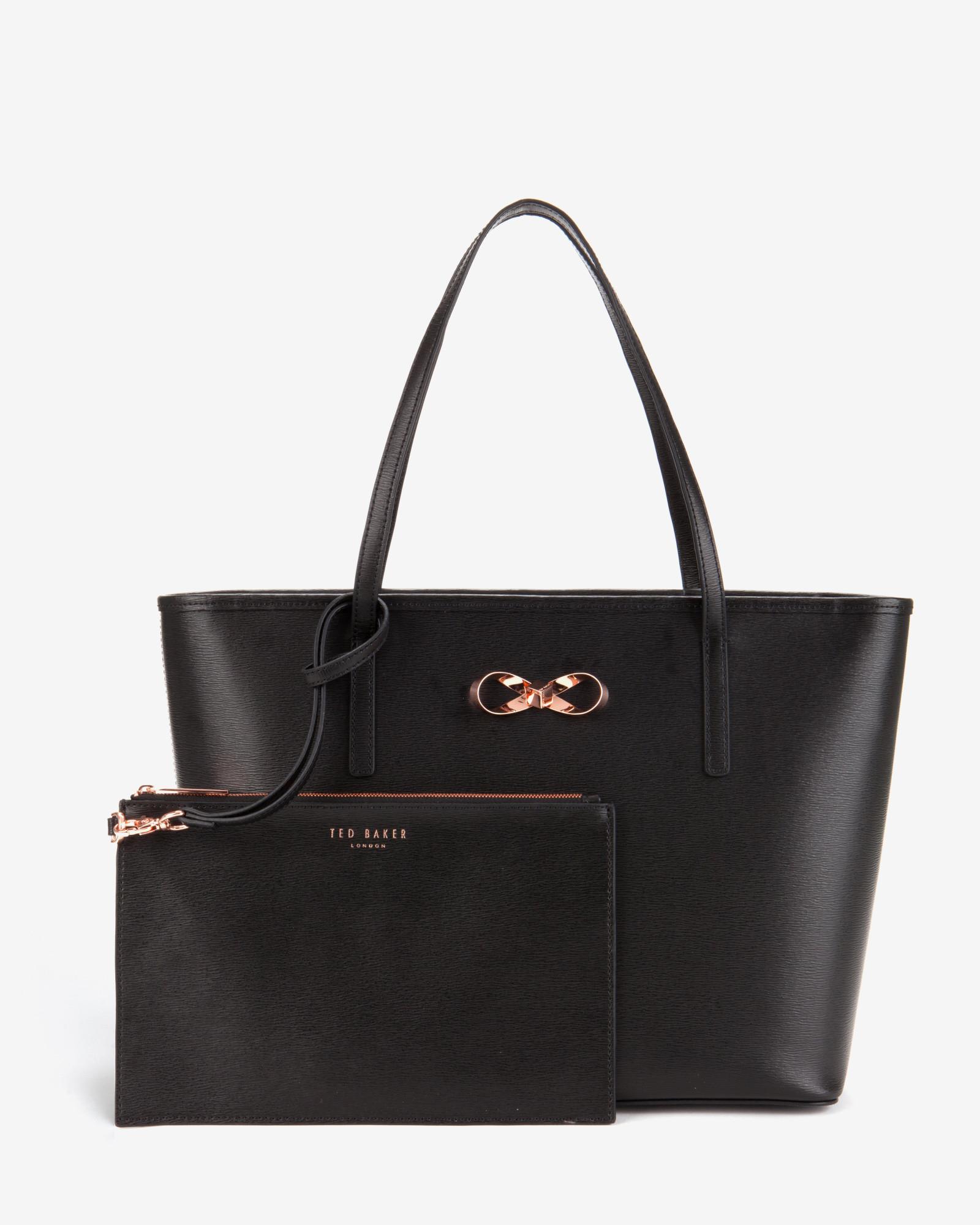 0b72f4dff59 Ted Baker Bonnita Leather Tote in Black - Lyst