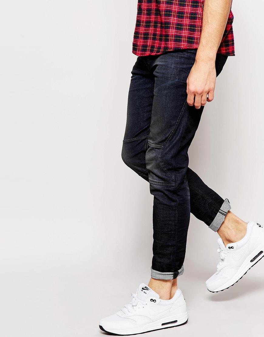 Diesel Jeans T-ride 842q Skinny Tapered Fit Stretch Biker Seams ...