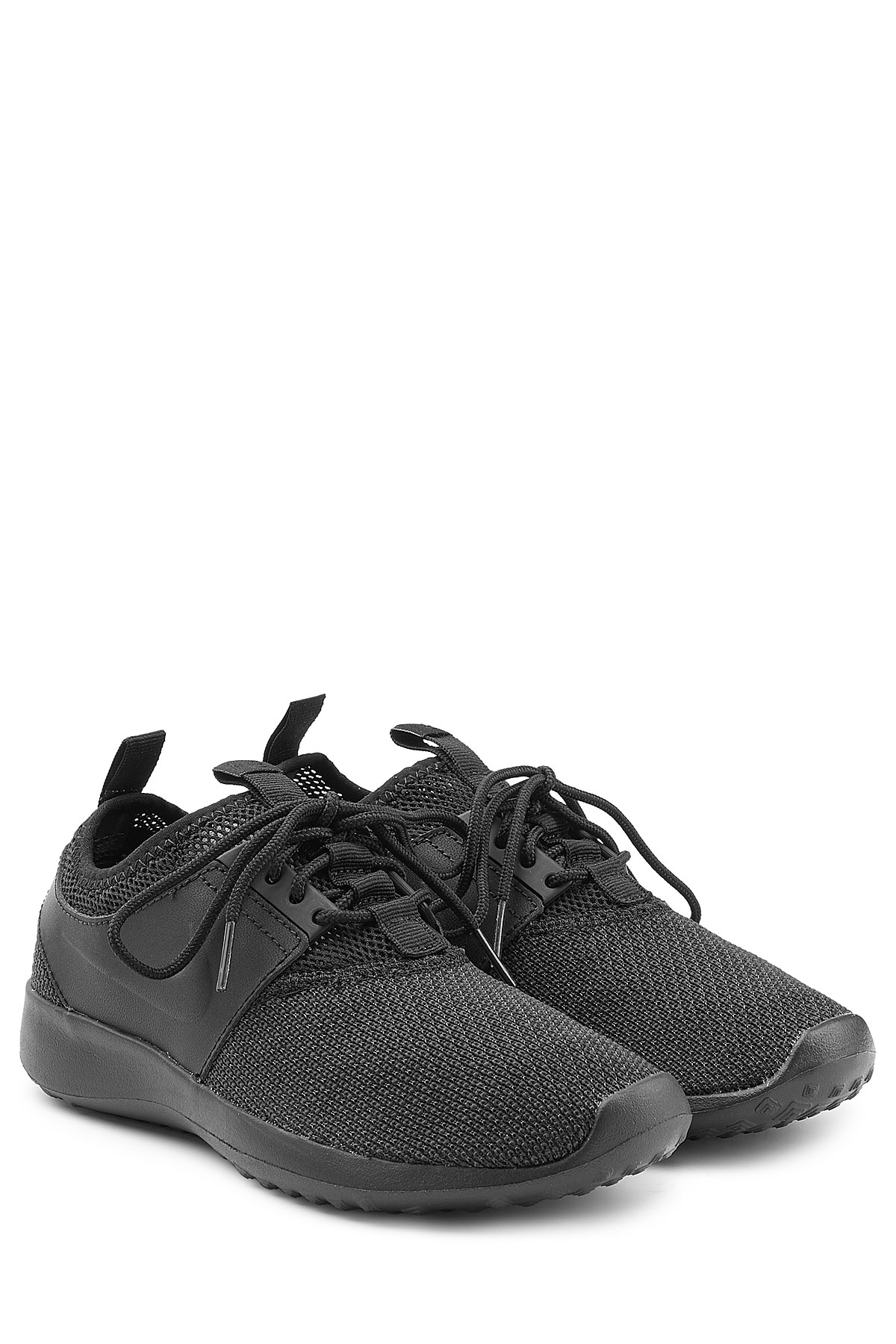 Nike Leather And Mesh Sneakers - Black in Black - Lyst