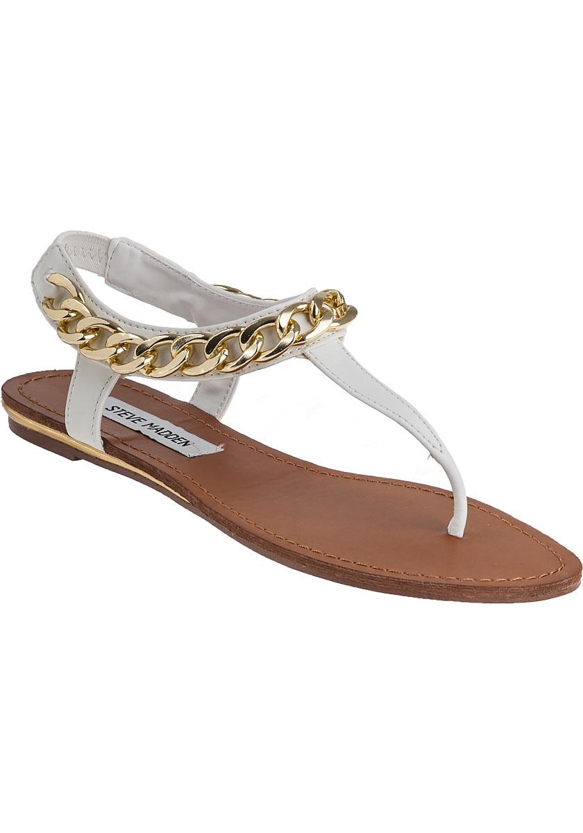steve madden hottstuf sandal white in white lyst